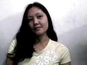 Pinay showing tits on webcam