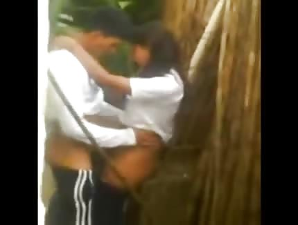 College student caught fucking outdoor