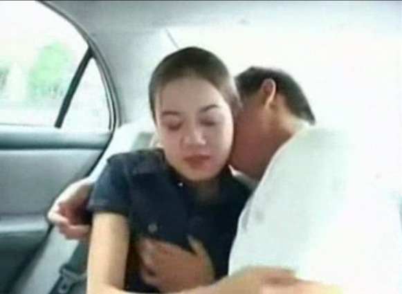 Asian couple car fucking