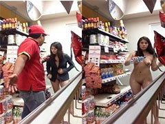 Pretty brave malay teen grocery store nude video