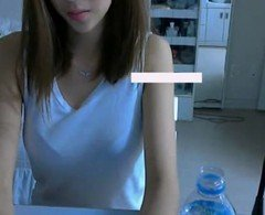 Cute and slim korean girl strips on cam